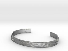 Topography Bracelet in Natural Silver