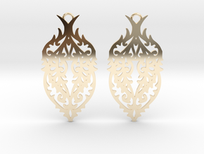 Thorn earrings in 14K Yellow Gold: Small