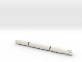 1/30 DKM G7 torpedo (21 in) KIT in White Natural Versatile Plastic