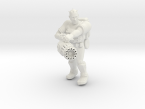 Heavy Gunner Miniature (28mm Scale) in White Natural Versatile Plastic