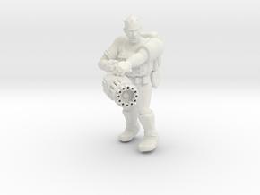 Heavy Gunner Miniature (28mm Scale) in White Natural Versatile Plastic
