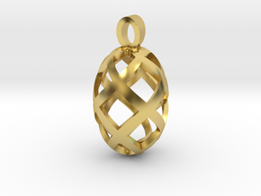 Seed openwork [pendant] in Polished Brass
