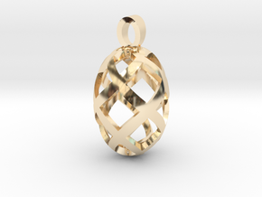 Seed openwork [pendant] in 14K Yellow Gold