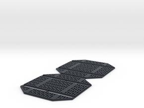 DeAgo Millennium Falcon Service Area Panels in Black Professional Plastic