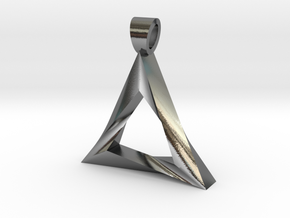 Impossible triangle [pendant] in Polished Silver