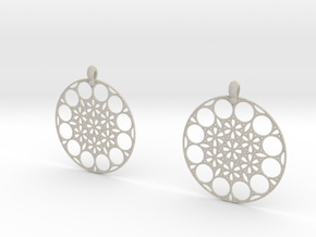 NMB3D Earrings in Natural Sandstone
