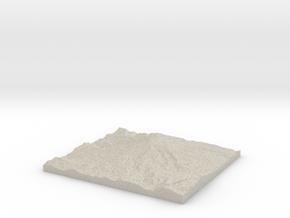 Model of White River Glacier in Natural Sandstone