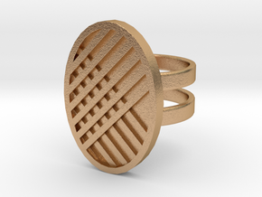 Two Stripe Ring in Natural Bronze: 4 / 46.5