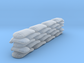 Sandbags Wall Miniature (28mm Scale) in Smooth Fine Detail Plastic
