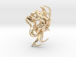 SOMAEXTATIC Large Statement Ring.stl in 14k Gold Plated Brass