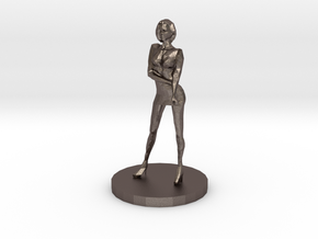 Girl Model (28mm Scale Miniature) in Polished Bronzed-Silver Steel