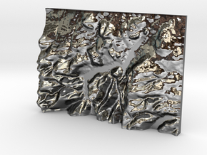 Ullswater in Fine Detail Polished Silver