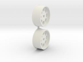 Offset-0,0-front-Polygon-Rims-MiniZ-AWD in White Natural Versatile Plastic