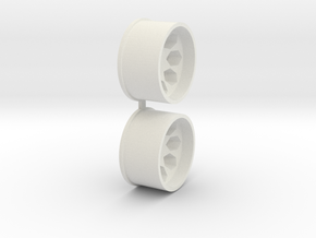 Offset-1,5-rear-Polygon-Rims-MiniZ-AWD in White Natural Versatile Plastic