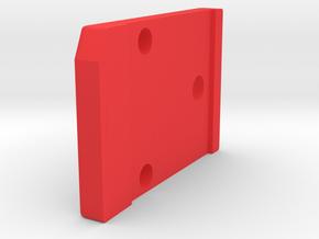 601-602 ver 2.1  blade retainer for plastic holder in Red Processed Versatile Plastic