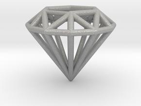Diamond shaped wire pendant in Aluminum