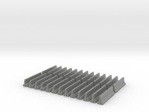 Jersey Barrier HO Scale. Set of 24. in Gray PA12