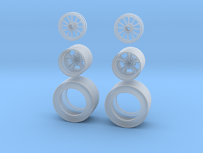1:64 Drag racing wheels and Tires. in Smoothest Fine Detail Plastic