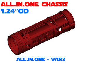 "ALL.IN.ONE - 1.24""OD - Lightsaber Chassis Var3 in White Natural Versatile Plastic"