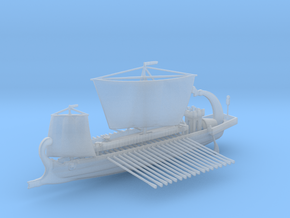 Roman warship liburna / liburnian in Smooth Fine Detail Plastic