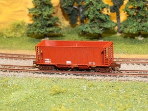 Ballast Hopper Car - Z scale in Frosted Ultra Detail