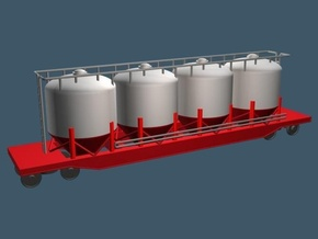 Closed Cylindrical Hopper Car - Z Scale in Smooth Fine Detail Plastic