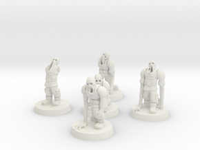 Guardsmen Thralls (28mm Scale Miniature) in White Natural Versatile Plastic