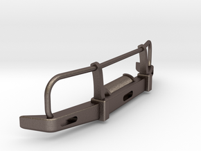 RC Toyota Hilux Bullbar 1:15 scale in Polished Bronzed-Silver Steel