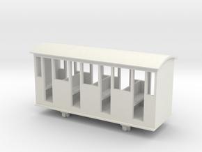 Bandai OO9 Scale Narrow Gauge Coach - Type 3 in White Natural Versatile Plastic