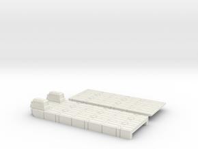 1/72 Large Powered Mexeflote in White Natural Versatile Plastic