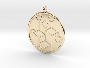 Ecology Symbol in 14K Yellow Gold