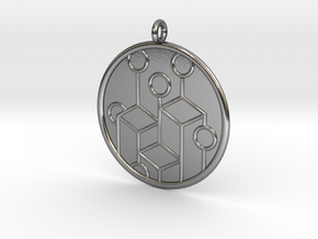 Ecology Symbol in Polished Silver