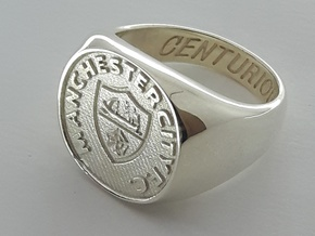 Centurions Size K. 15.9mm. Silver. in Polished Silver