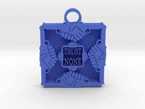 Trust None pendant 1 in Blue Processed Versatile Plastic