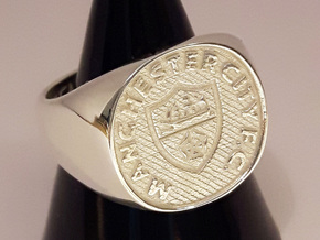 Champions Ring Size T. 19.55mm. Silver. in Polished Silver
