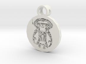 space monkey pendant in White Premium Versatile Plastic