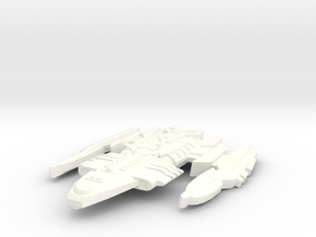 Athtorian Type 2 Starship in White Processed Versatile Plastic