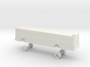 HO Scale Bus Gillig Low Floor DART 200s in White Natural Versatile Plastic