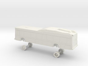 HO Scale Bus Gillig Low Floor GGT 1900s in White Natural Versatile Plastic