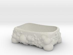 Bubbles Soap Holder (downloadable) in Natural Full Color Sandstone