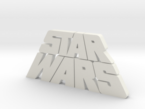 Star Wars Logo 1977 in White Natural Versatile Plastic