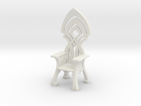 Elven Throne for 32mm scale settings in White Natural Versatile Plastic