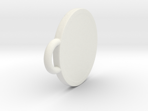 Pendant Shield in White Natural Versatile Plastic: Extra Small