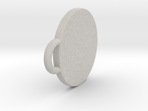 Pendant Shield in Natural Full Color Sandstone: Extra Small
