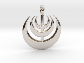 MOON WAVE in Rhodium Plated Brass