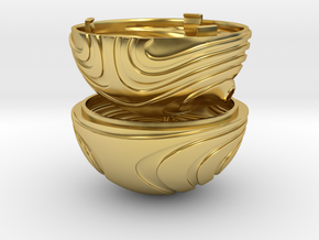 """Coral Snitch"" Ring Box (NEW MODEL) in Polished Brass"