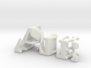 3dWordFlip: Ale/Jimmy in White Natural Versatile Plastic