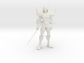 Dark Cecil from Final Fantasy IV in White Natural Versatile Plastic: 1:8