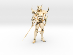 Dark Cecil from Final Fantasy IV in 14k Gold Plated Brass: 1:8