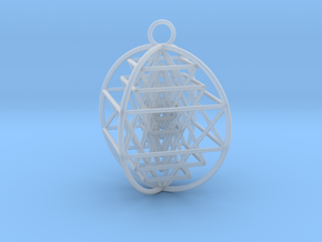3D Sri Yantra 4 Sided Optimal in Smooth Fine Detail Plastic